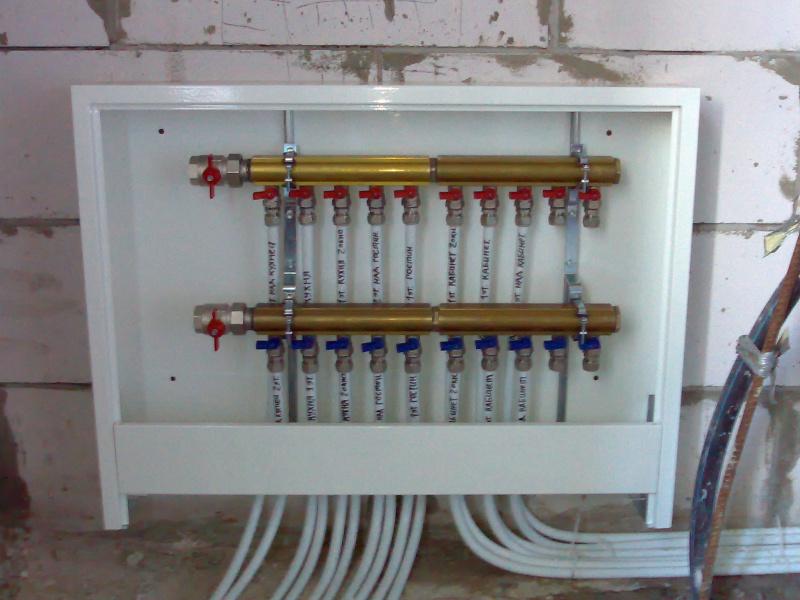 Самодельный ящик для коллектора отопления