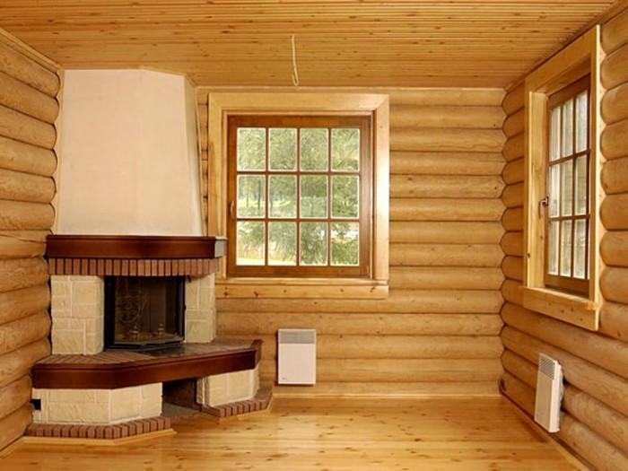 отопление брусового дома