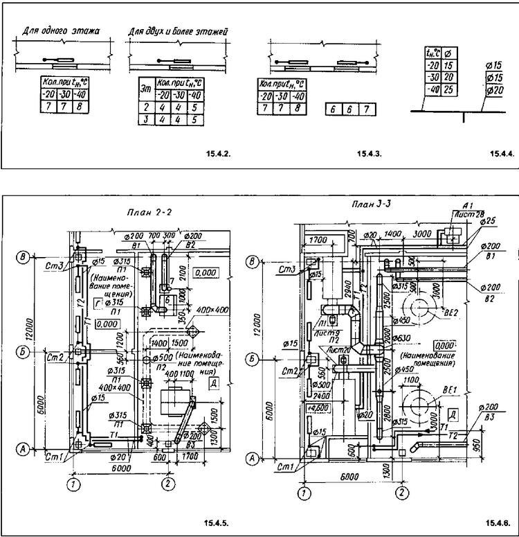 чертежи отопления частного дома