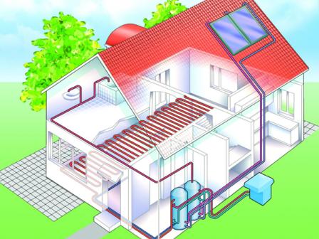 отопление дома от солнца