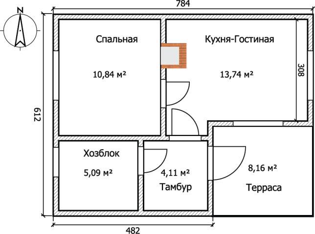домов с печным отоплением