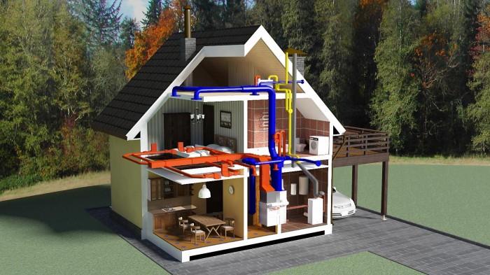 радиаторное отопление загородного дома