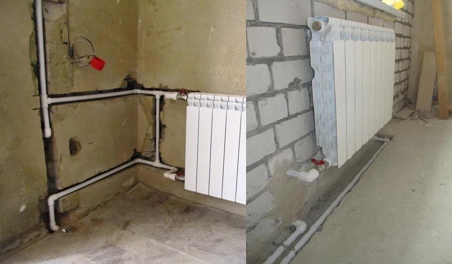 Как спрятать трубы отопления?