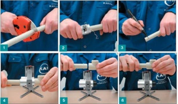 Монтаж отопления и краска для труб