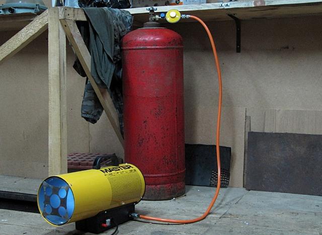 отопление гаража газом