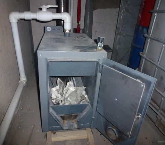 отопление гаража дровами