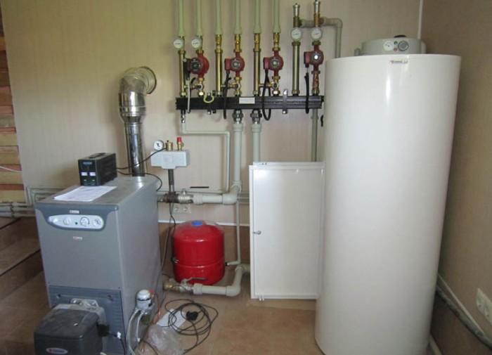 схема системы отопления частного дома