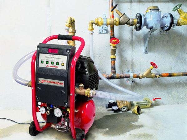 компрессор для промывки системы отопления