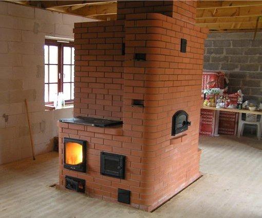 финская печь для отопления дома