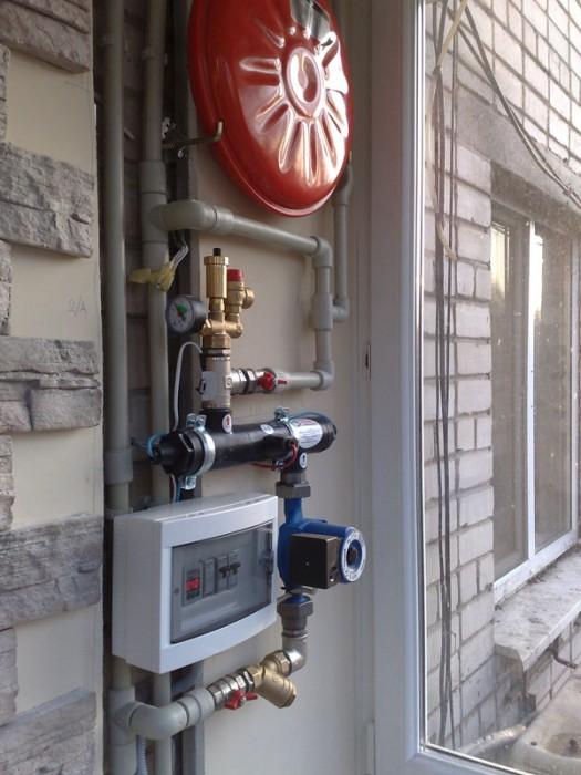 монтаж электрокотла с радиаторами отопления