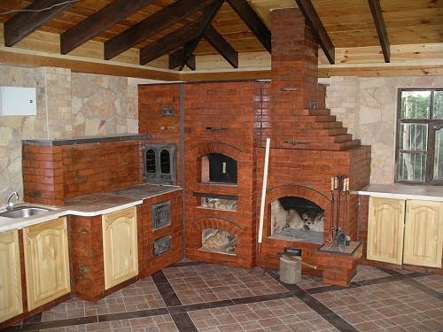 печное отопление частного дома схема
