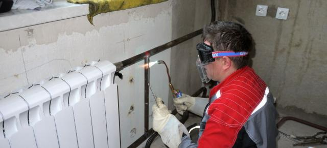 замена радиаторов отопления на сварке